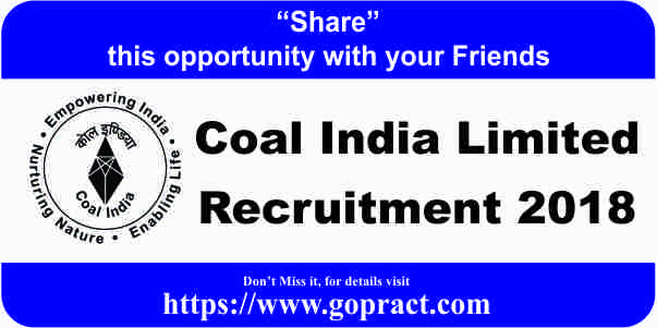 CIL Vacancy 2018 - Medical Executives Posts